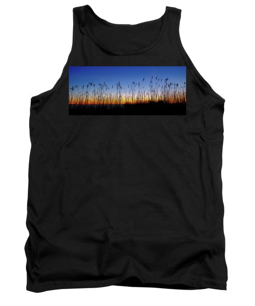 Marsh Grass Silhouette  Tank Top