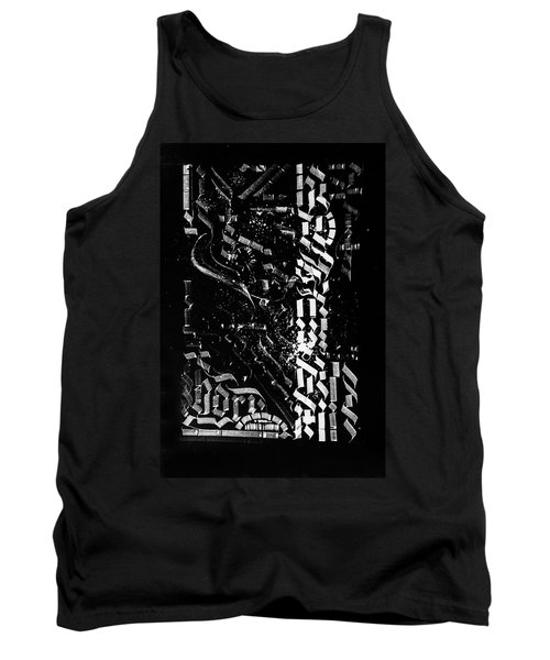 Matrix. Calligraphic Abstract Tank Top