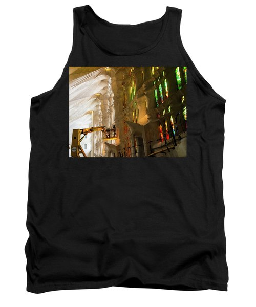 Tank Top featuring the photograph Men At Work by Alex Lapidus