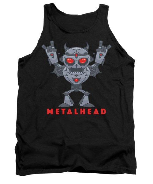 Metalhead - Heavy Metal Robot Devil - With Text Tank Top