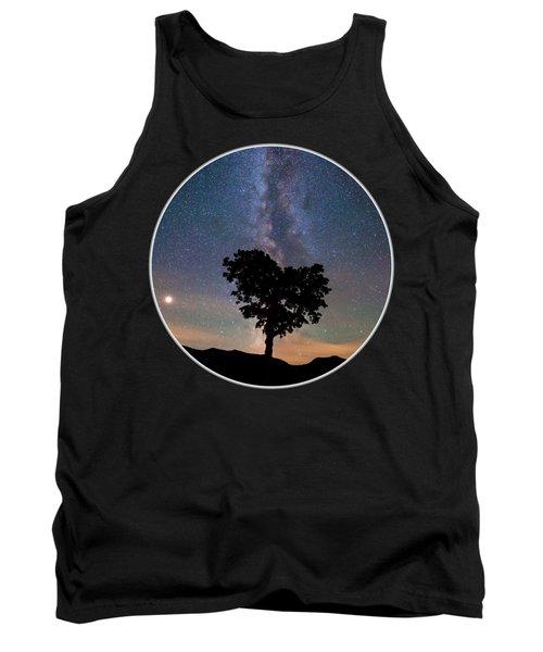 Milky Way Heart Tree Circle Tank Top