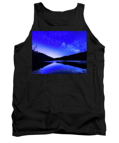 Milky Way Over Springtime Echo Lake Tank Top