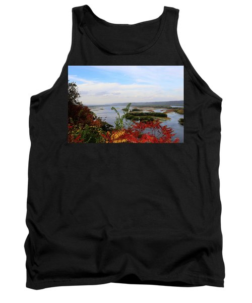 Mississippi River In The Fall Tank Top