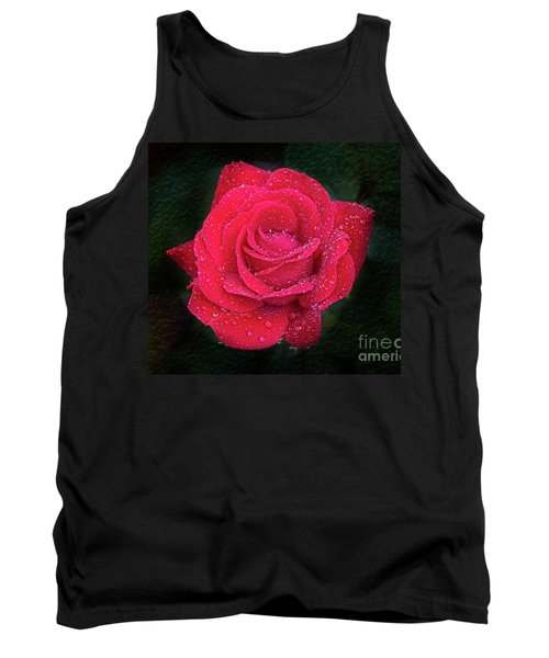 Morning Mist On Red Rose Tank Top