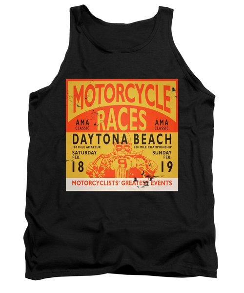 Motorcycle Races Daytona Beach Tank Top