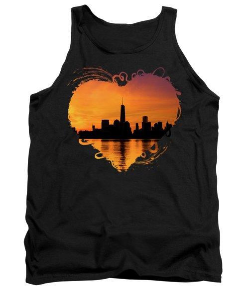 New York City Manhattan Sunrise Skyline Tank Top