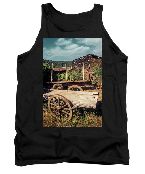 Old Abandoned Wagons Tank Top