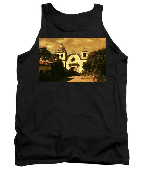 Old Carmel Mission - Watercolor Painting Tank Top