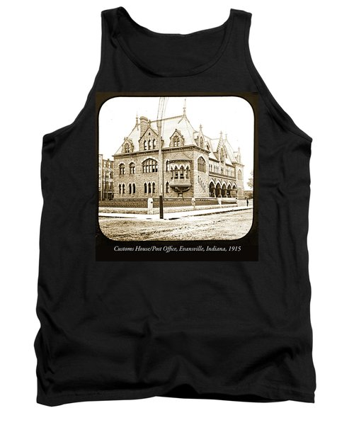 Old Customs House And Post Office, Evansville, Indiana, 1915 Tank Top