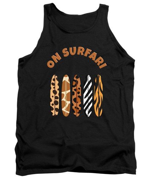 On Surfari Animal Print Surfboards  Tank Top