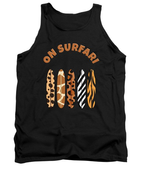 On Surfari Animal Print Surfboards  Tank Top
