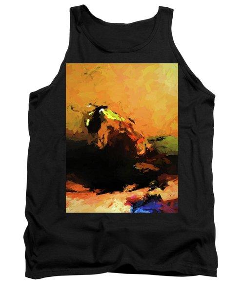 Orange Bull Cat Tank Top