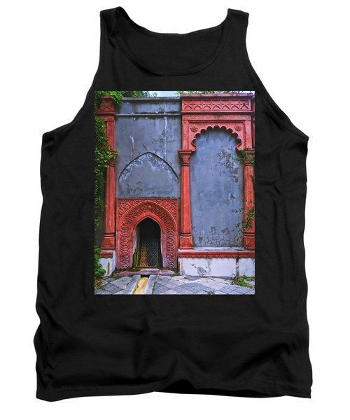 Ornate Red Wall Tank Top