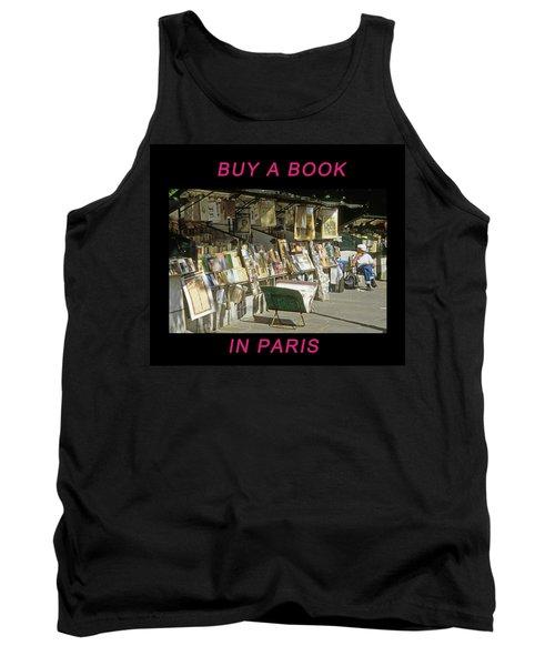 Paris Bookseller Tank Top