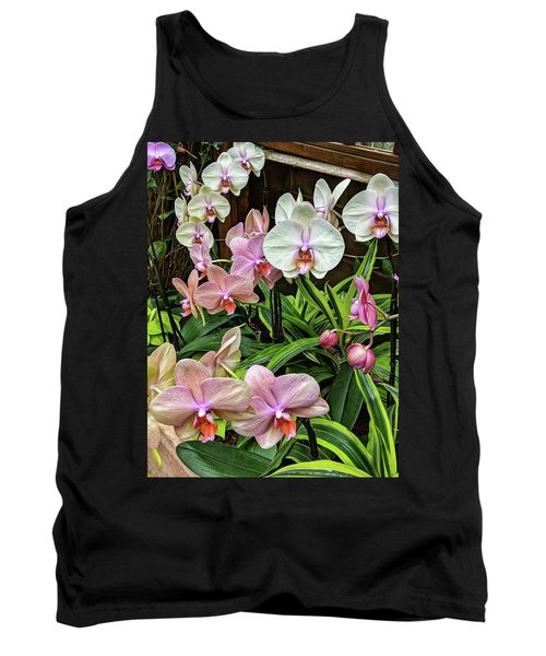 Pink And  White Orchids Tank Top