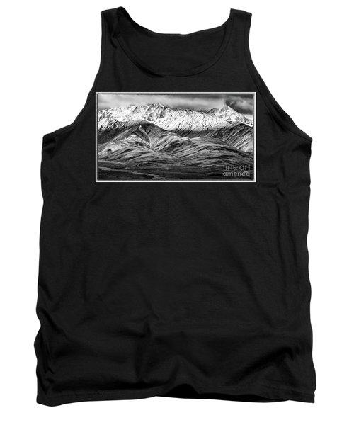 Polychrome Mountain, Denali National Park, Alaska, Bw Tank Top