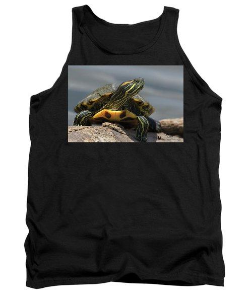 Portrait Of A Turtle Tank Top