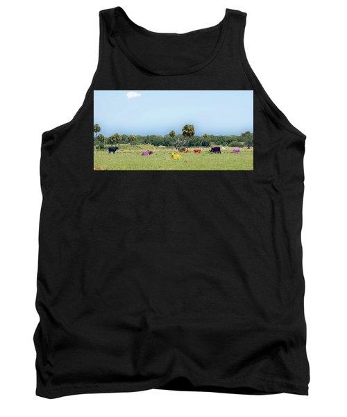 Psychedelic Cows Tank Top