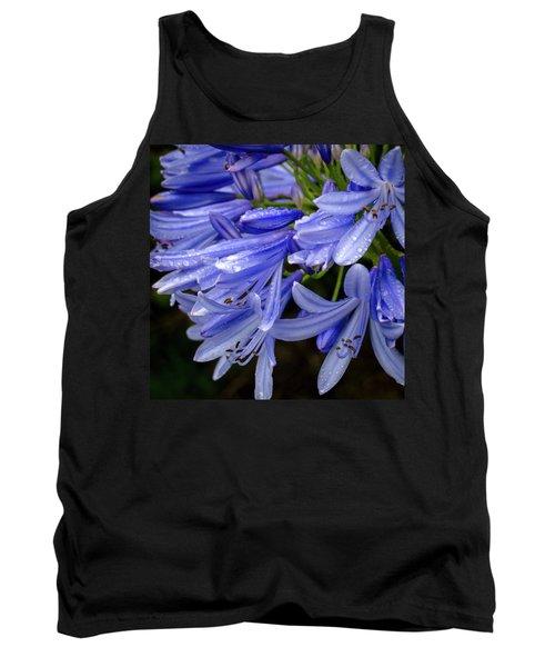 Rain Drops On Blue Flower II Tank Top