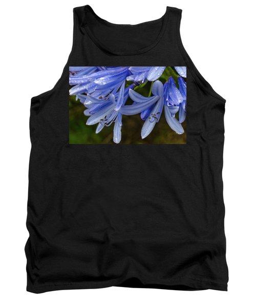 Rain Drops On Blue Flower Tank Top