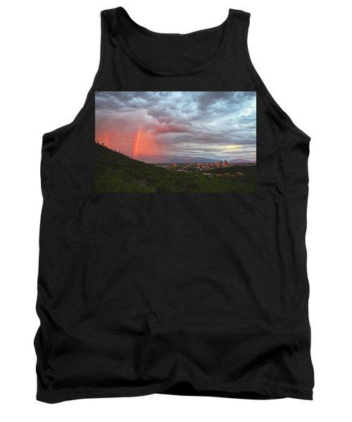 Rainbow Over Tucson Skyline Tank Top