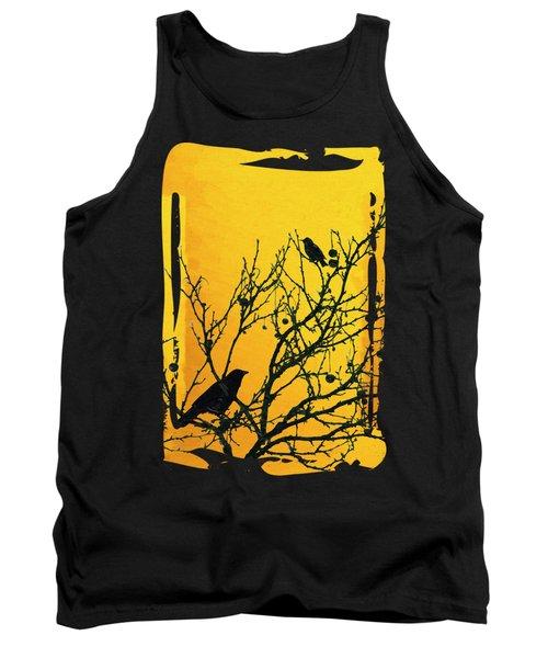 Raven - Black Over Yellow Tank Top