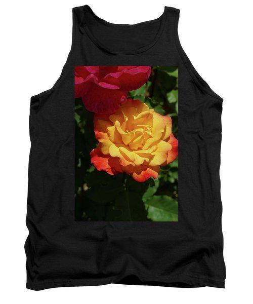 Red And Yellow Rio Samba Roses Tank Top
