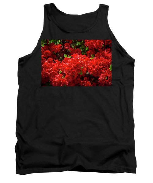 Red Flowers Tank Top