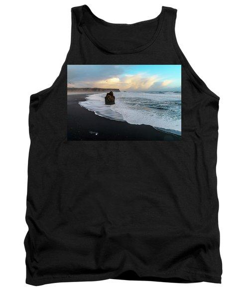 Reynisfjara Beach At Sunset Tank Top