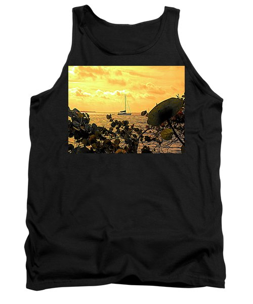 Sail The Manatee River Tank Top