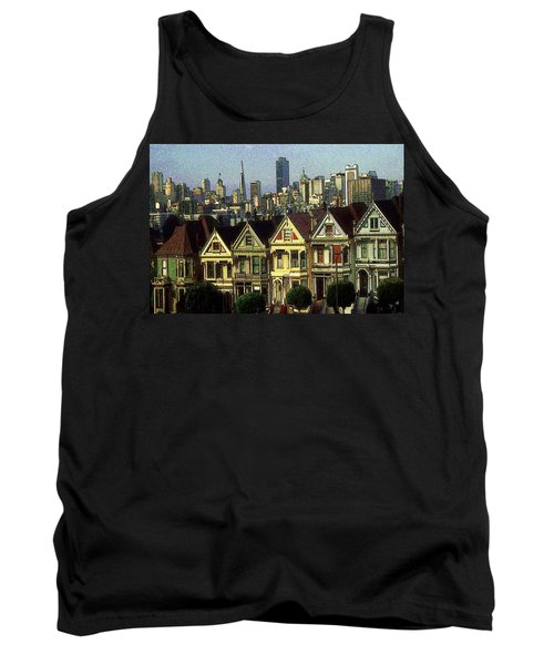 San Francisco Alamo Square Painting Tank Top