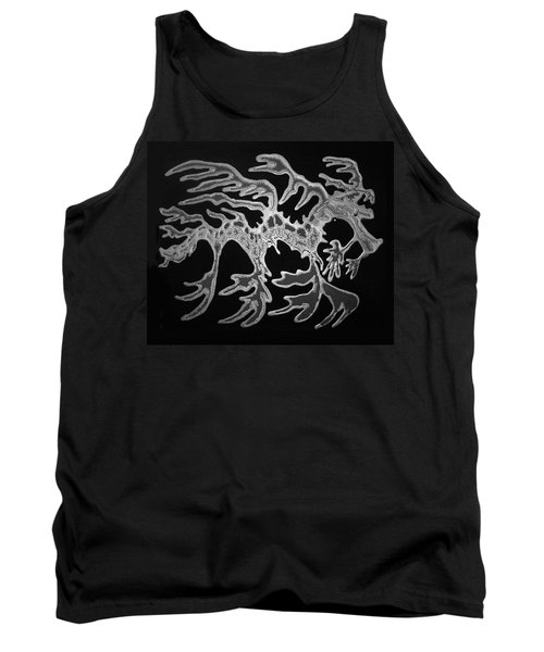 Sea Dragon Black And White Tank Top