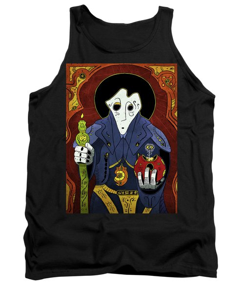 Tank Top featuring the painting Shadow Priest by Sotuland Art
