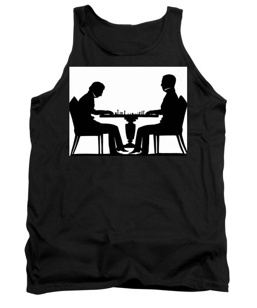 Silhouette Of Chess Players, Around 1845 Tank Top