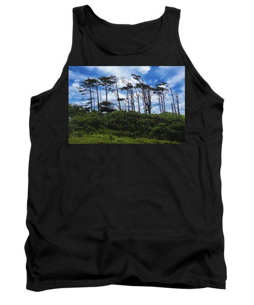 Silhouettes Of Wind Sculpted Krumholz Trees  Tank Top