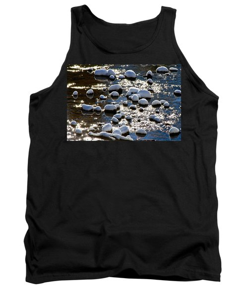 Snow Covered Rocks Tank Top