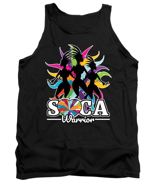 Soca Warrior Design Party Gift For Carnival Music And Wining Caribbean Reggae Dancehall Culture Wine And Grind Tank Top