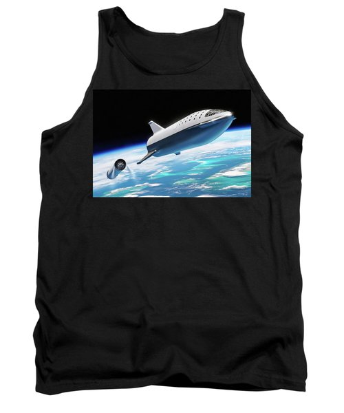 Spacex Bfr Big Falcon Rocket With Earth Tank Top