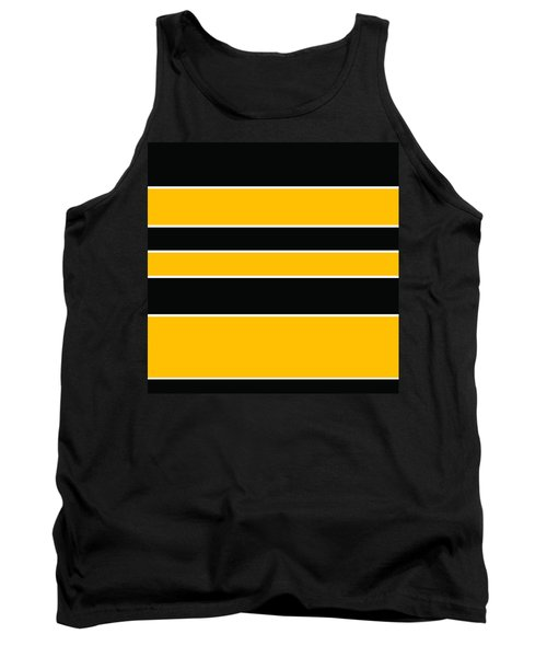 Stacked - Black And Yellow Tank Top