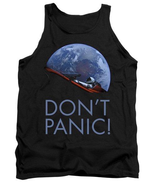 Starman Don't Panic In Orbit Tank Top