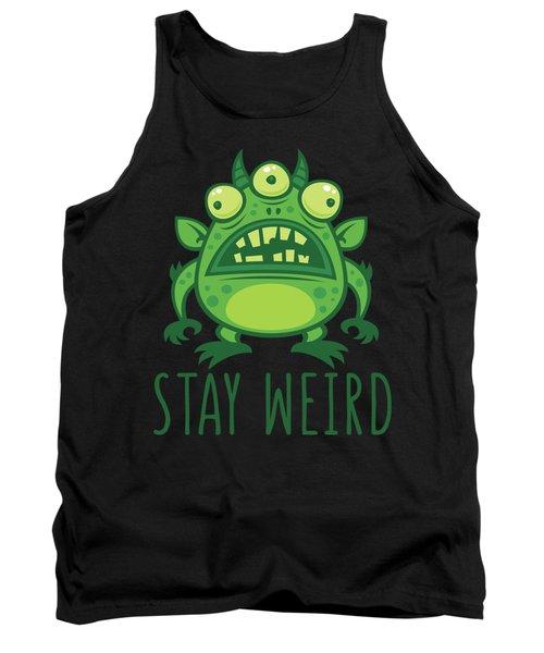 Stay Weird Alien Monster Tank Top
