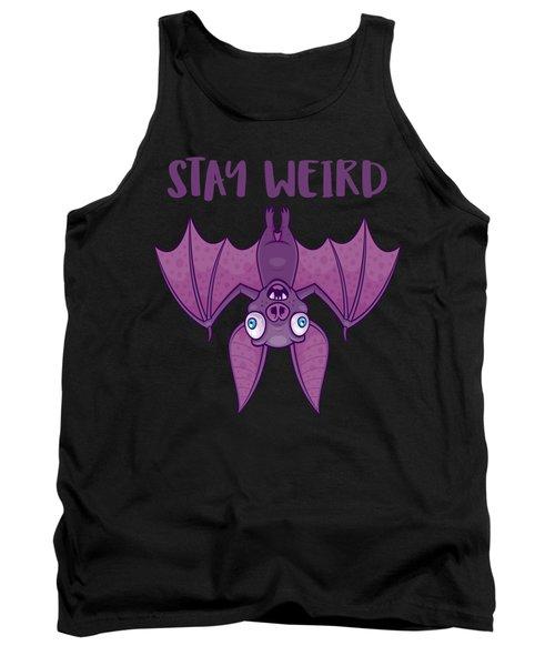 Stay Weird Cartoon Bat Tank Top