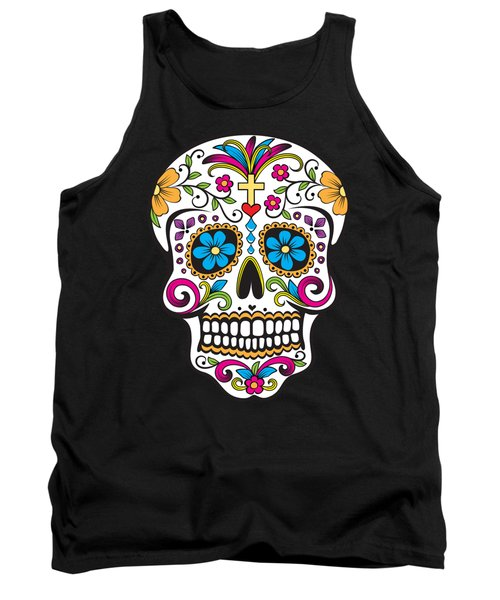 Sugar Skull Day Of The Dead Tank Top