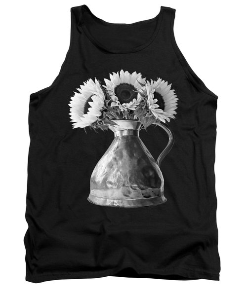 Sunflowers In Copper Pitcher In Mono Tank Top