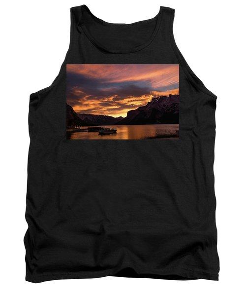 Sunrise Over Lake Minnewanka, Banff National Park, Alberta, Cana Tank Top