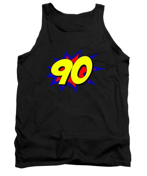 Superhero 90 Years Old Birthday Tank Top