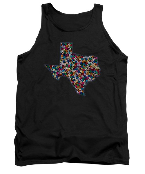 Texas Map - 2 Tank Top