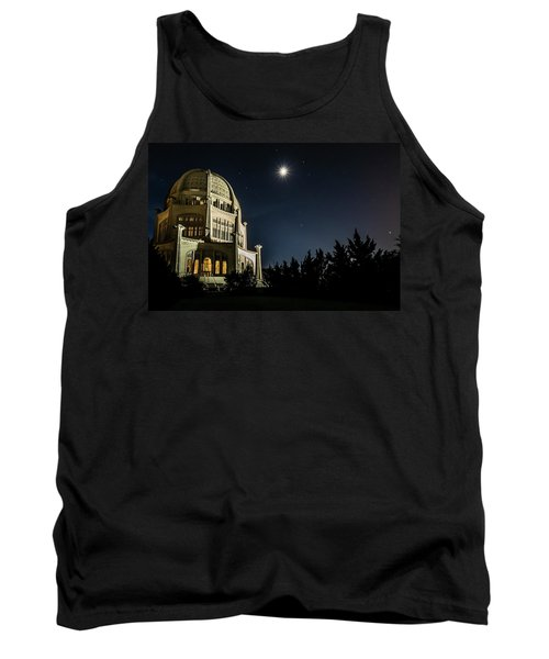 The Bahais Temple On A Starry Night Tank Top