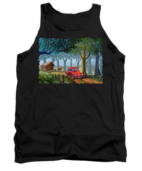 The Little Red Beetle Tank Top