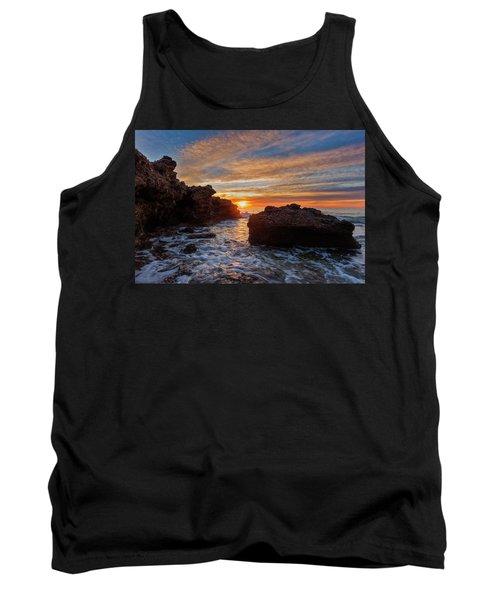 The Sea In Oropesa At Sunrise On The Orange Blossom Coast Tank Top